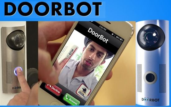 Doorbot device and smartphone app