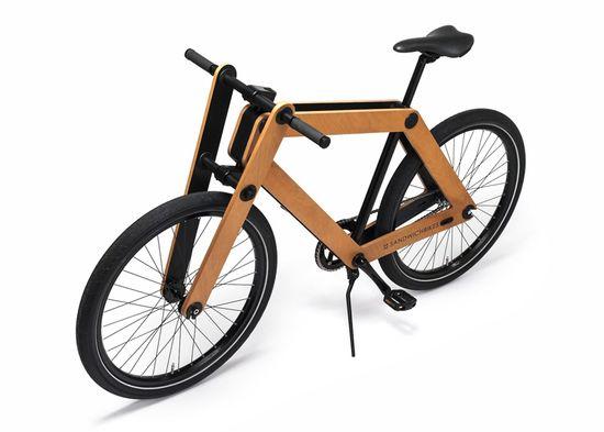 Sandwichbike flat-pack wooden bicycle 6