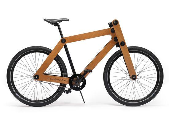 Sandwichbike flat-pack wooden bicycle 1