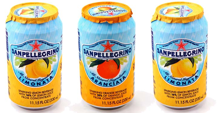 San Pelligrino's juice cans come with a unique foil peel-off cover, which gives the consumer the feel of peeling real fruit when they open the can