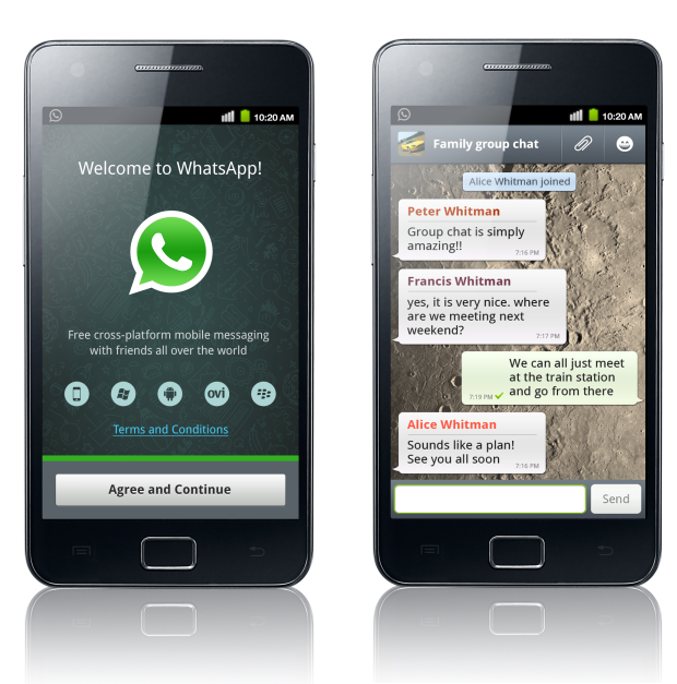 Whatsapp screenshots for Android