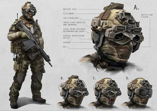 Concept illustrations of a possible TALOS combat suit 1