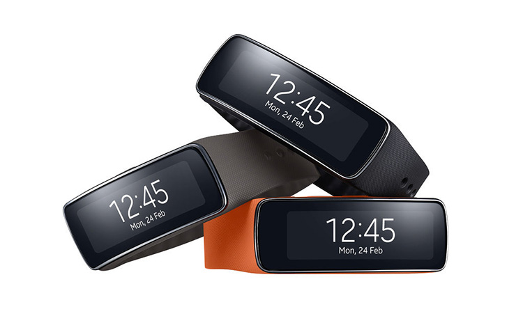 The Samsung Gear Fit wristband  connects you to your smartphone and as a fitness tracker is a pedometer, stopwatch, timer and heart-rate monitor