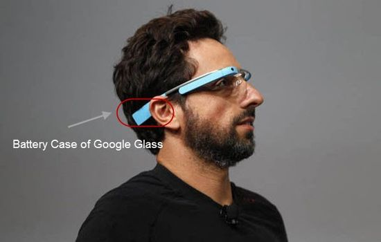 Battery case of Google Glass