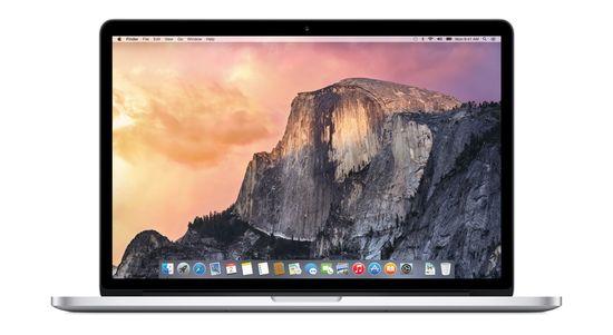 Apple OSX Yosemite home screen