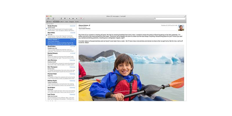 Apple OS X Mavericks Mail