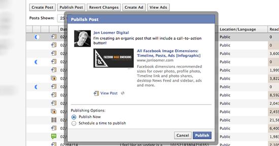 Facebook-power-editor-publish-unpublished-post