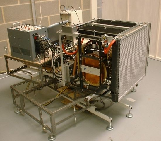 SPR's EmDrive Demonstrator Engine (Front View) mounted on a test rig