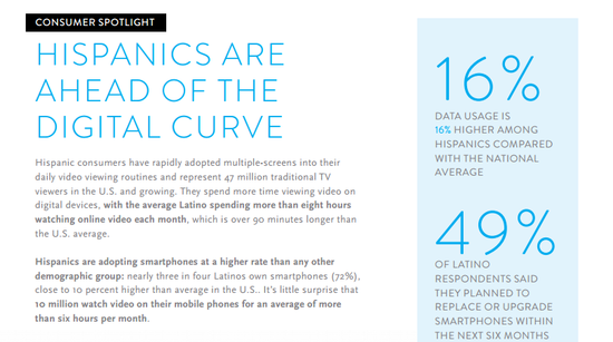 Consumer Spotlight - Hispanics Are Ahead of the Digital Curve - Nielsen 1