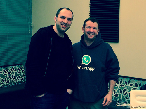 Whatsapp co-founders Jan Koum and Brian Acton