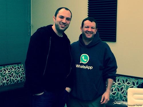 Whatsapp co-founders Jan Koum and Brian Acton