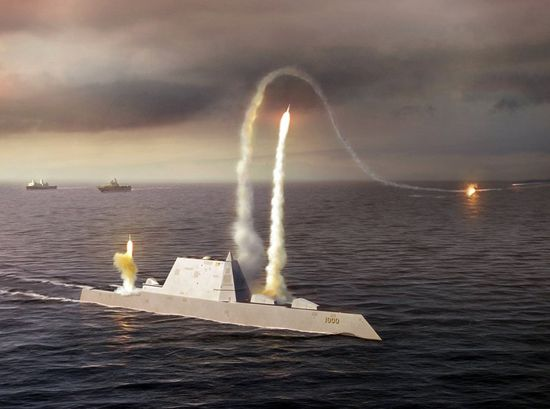 Zumwalt has a peripheral vertical launch system (PVLS), which consists of 20 four-cell PVLS situated round the perimeter of the deck