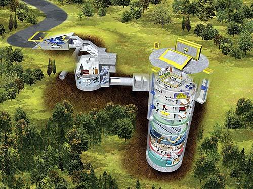 Underground diagram of US underground Cold War missle silo