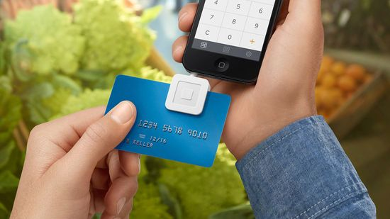 Square credit card reader attaches to any iOS and Android mobile device