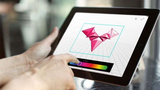 Frog's mobile app allows uers to design and resize objects in 3D before they are printed on the MOD-T 3-D printer