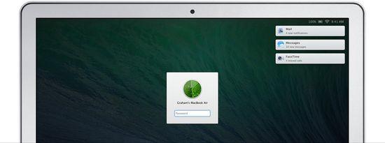 OS X MAVERICKS Notification Center