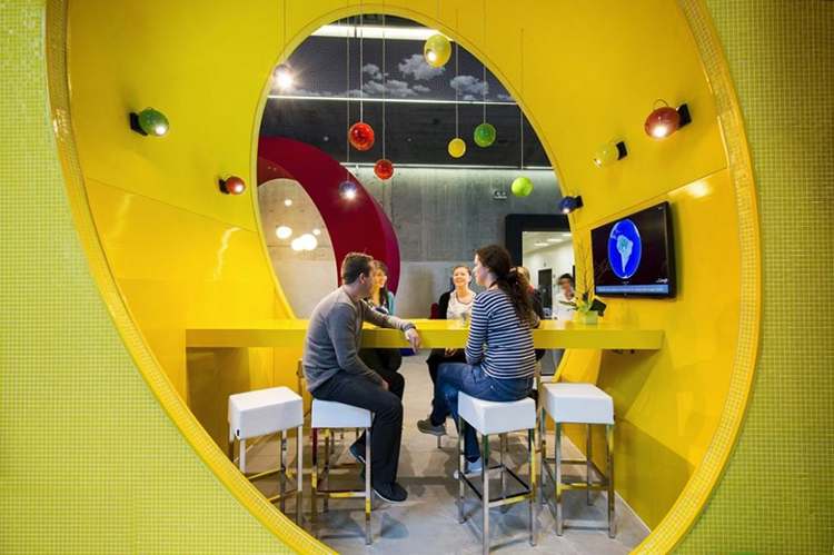 GOOGLE DUBLIN -- Google's Dublin office is a spunky, brightly colored playground for nerds