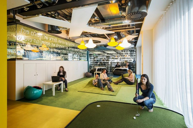 GOOGLE DUBLIN -- Office foosball tables are old '90s startup news, but an office putting green