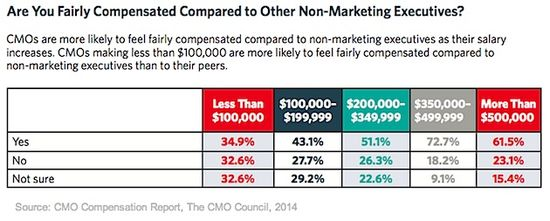 Are You Fairly Compensated Compared To Other Non-Marketing Executives - The CMO Compensation Report - The CMO Council