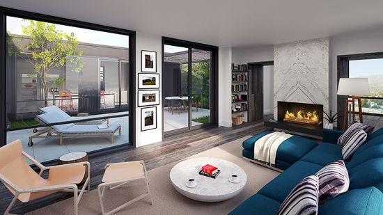 Prefab architecture is typically associated with affordable housing like this model, not luxury design