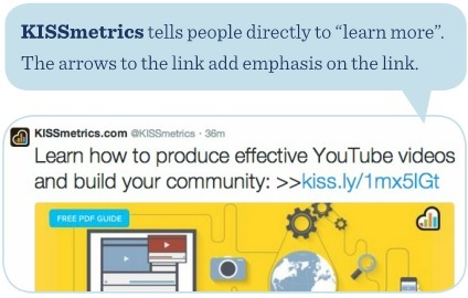 KISSmetrics telle people directly to 'learn more'