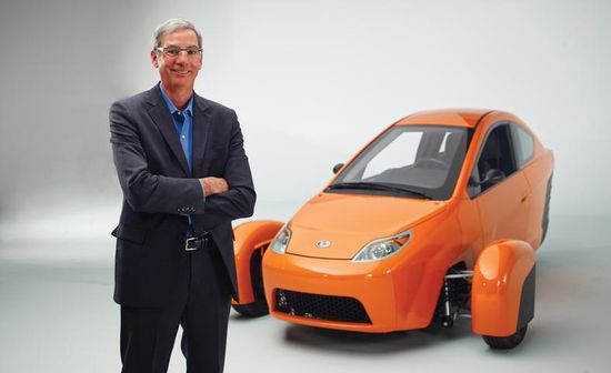 Paul Elio, the founder and CEO of Elio Motors and inventor of the Elio three-wheeled car