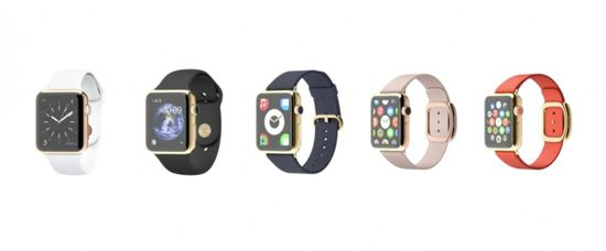 Apple offers its new watch with a variety of different wristbands