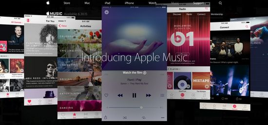 Apple Music website homepage