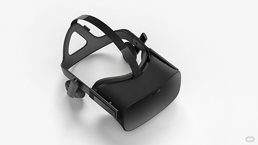 The consumer Rift virtual reality headset up close