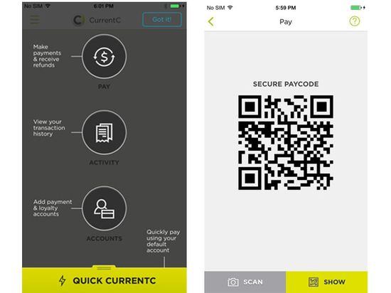 CurrentC by MCX will use QR codes instead of NFC for mobile payments