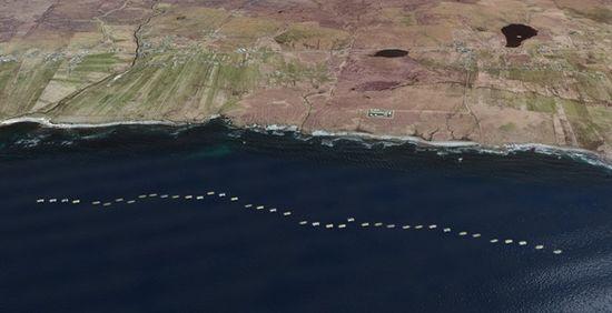 Aquamarine Power's proposed Lewis wave farm