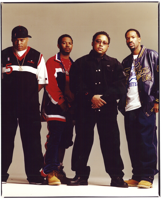 The original founders of FUBU from left to right -- Keith Perrin, Carl Brown, Daymond John, J. Alexander Martin