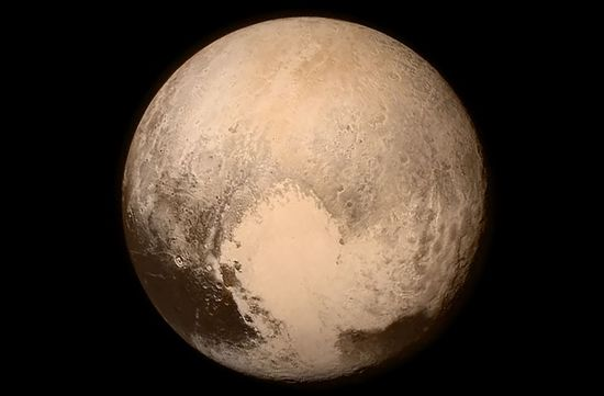 Final image of planet Plut taken by the New Horizon spacecraft