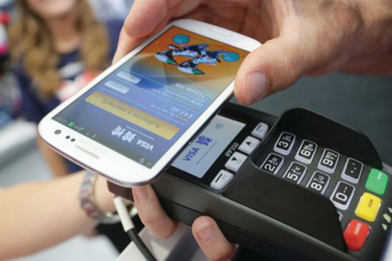 NFC enabled phones are used for contactless payments