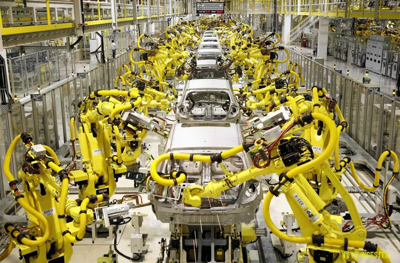 Industrial Robotocs in the automobile industry