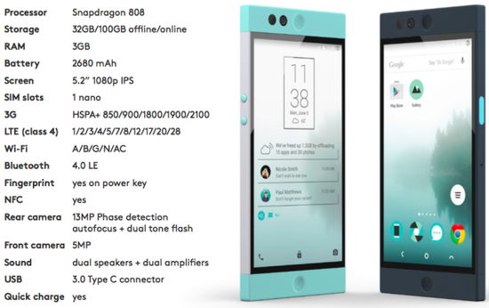 Nextbit Robin specifications