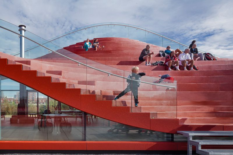 MVRDV COMPLETES THE COUCH, A CLUB HOUSE FOR AMSTERDAM'S TENNISCLUB IJBURG 3