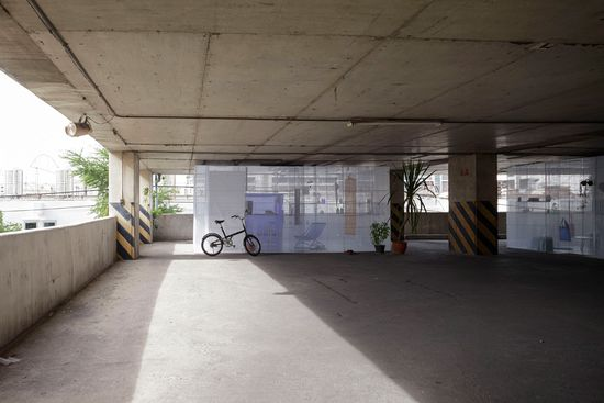 Light House popup apartment can be setup in abandoned buildings or parking garages -1