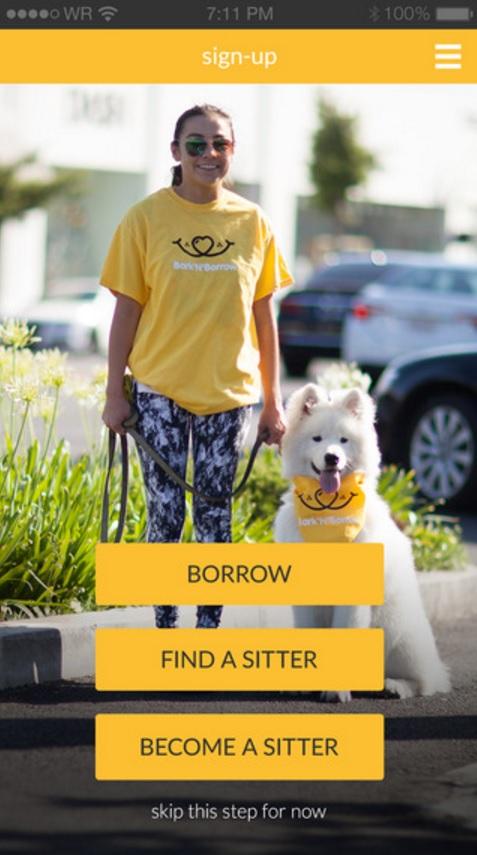 Bark'N'Borrow app screenshot 1