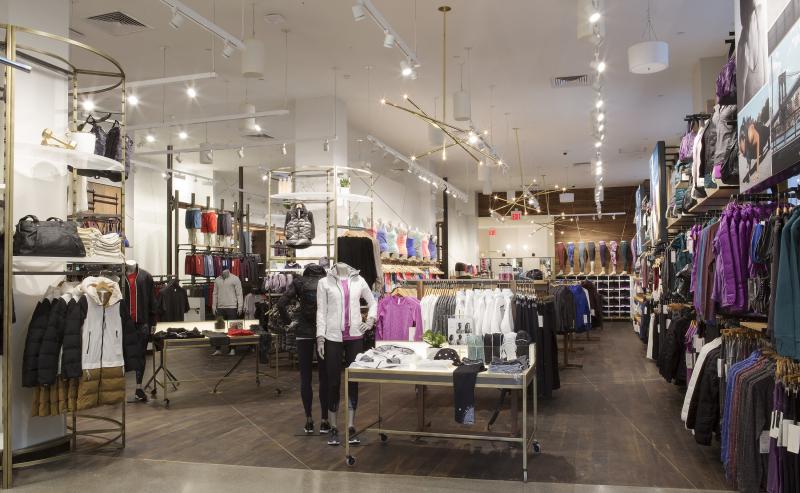 The retail floor located inside Lululemon's flagship Flatiron District store in Manhattan