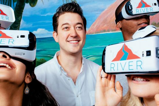 Mike Nothenberg, founder of Nothernberg Ventures, promotional images for VR accelerator RIVER