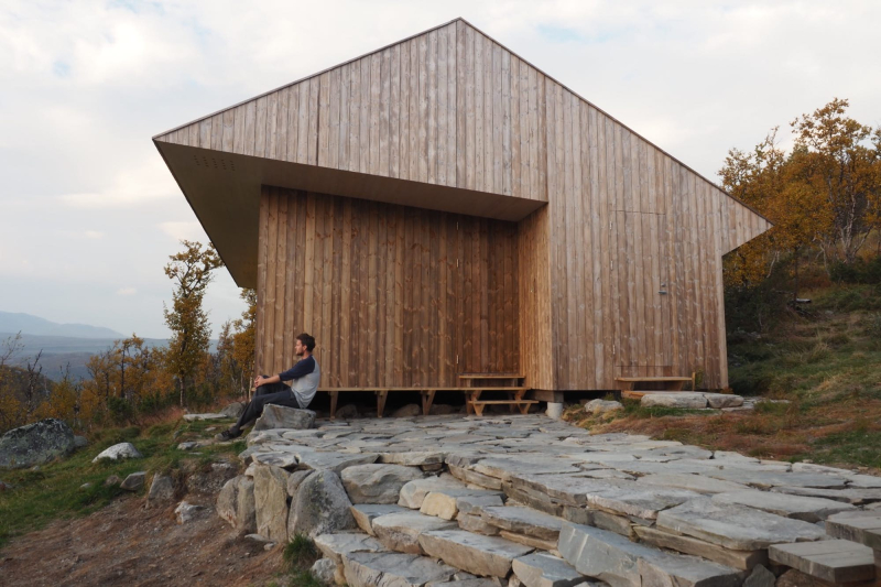 Cabin Ustaoset was completed in 2016 (Credit Knut Bry)