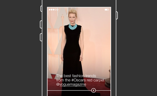 This BuzzFeed-created artist rendering showing how a final version of Project Lightning might look. Images and videos appear full screen as you swipe through them