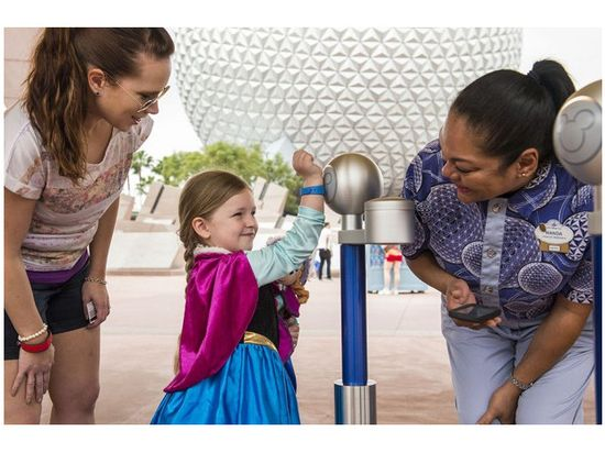 'MagicBand' is used to automatically pay for rides, attractions and food at Florida's Disney World