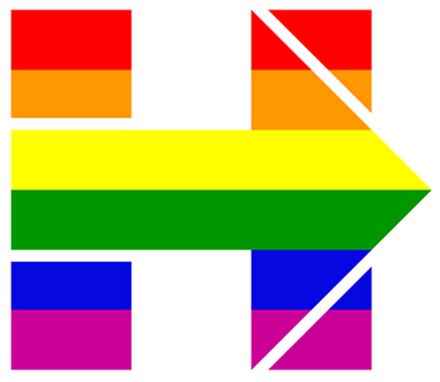 Hillary Clinton's campaign logo was changed Tuesday to show support for same-sex marriage on the day of oral arguments at the Supreme Court
