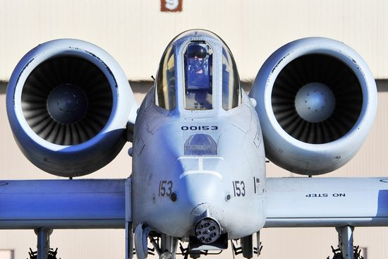 A-10 Thunderbolt II makes its way to the runway during red Flag-Alaska, Oct 9, 2009, at Eiselson Air Force Base, Alaska