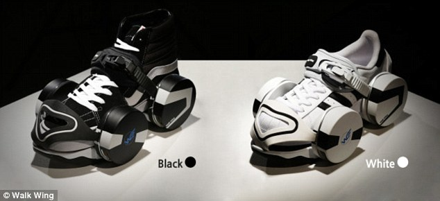 The Walk Wing comes in two colors -- black and whte