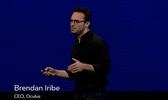 Brendan Iribe, CEO, Oculus keynote speech at Oculus Connect 2 Developers Conference in Hollywood, CA on Sep 24, 2015