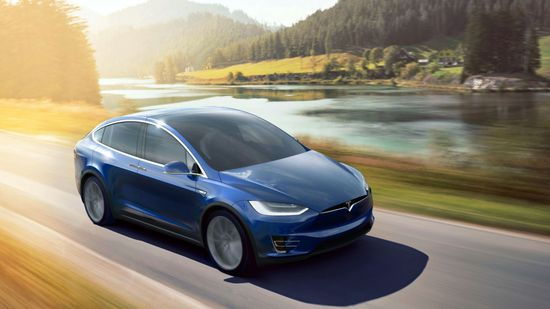 Tesla Model X all-electric SUV A
