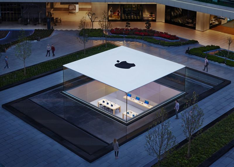 Apple's retail store in Istanbul is the first location designed by Norman Foster. It's recessed into the ground and looks a lot like a MacBook from above.
